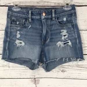 American Eagle Jean Shorts Hi-Rise Distressed
